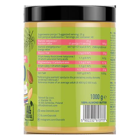 OstroVit 100% Almond Butter 1000 g